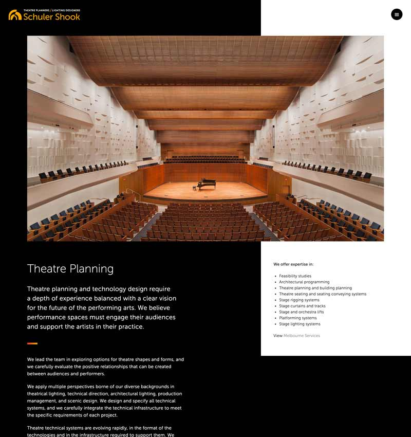 Theatre Planning page